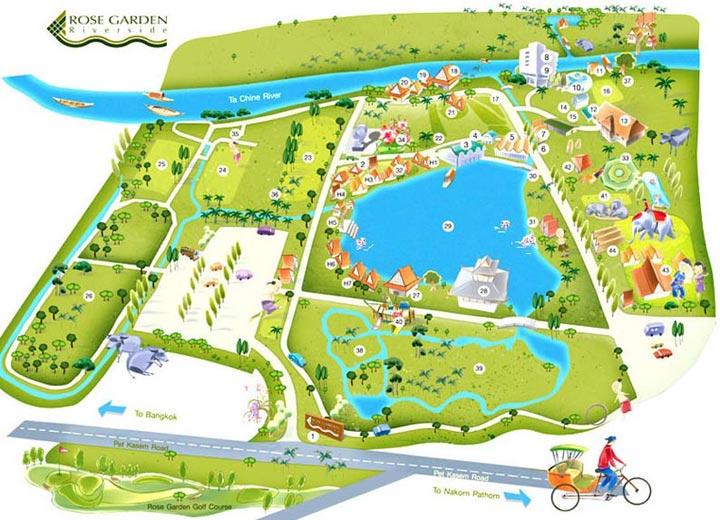 Layout plan Rose Garden Riverside Hotel Nakhon Pathom Ta