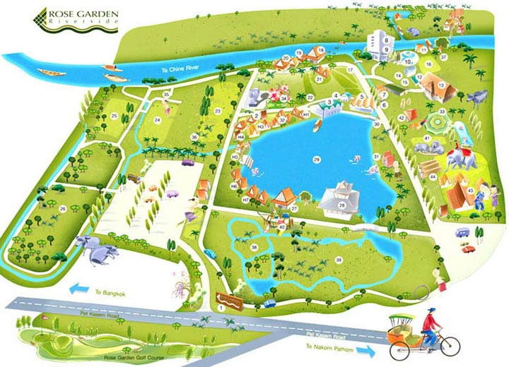 Layout plan Rose Garden Riverside Hotel Nakhon Pathom Ta Chine