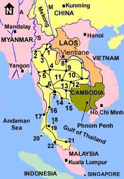 Thailand Maps Highways Railways North Northeast Southern Roads - Map of thailand