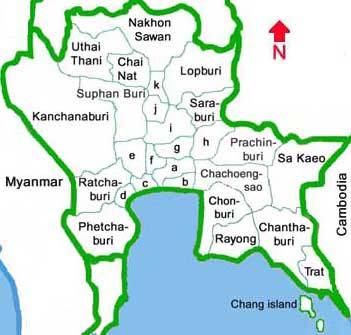 Central Thailand provinces nakhon sawan uthai thani suphan buri