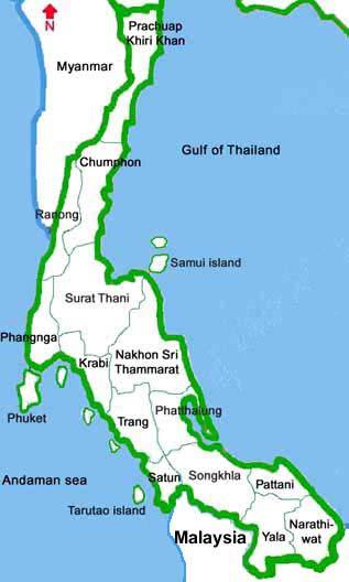 Chumphon Thailand  City pictures : Thailand southern provinces: chumphon, Prachuap Khirikhan, Ranong ...